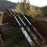 Hydro dipped rolla roaster camping fork