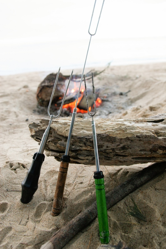 Both the barbeque fork and the original marshmallow toasting fork are a great asset to have when cooking food over a campfire.
