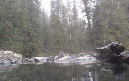 Weir Creek hot springs along Highway 12 in northern Idaho is a great place to have a cookout with your Rolla Roaster!